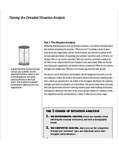 sample dreaded situation analysis