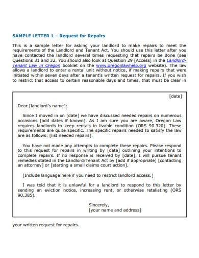 sample landlord letter