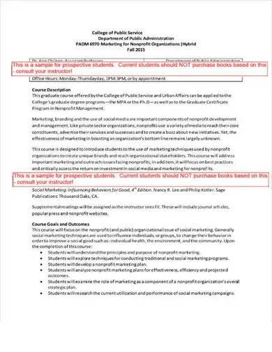 sample marketing plan for nonprofit