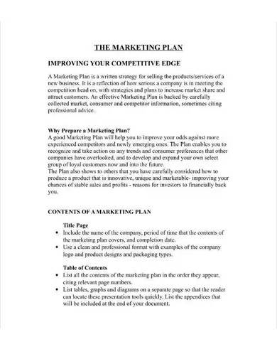 sample marketing plan for restaurant