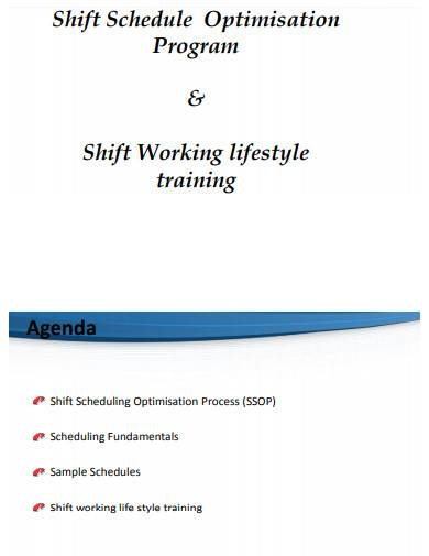 sample rotation shift schedule
