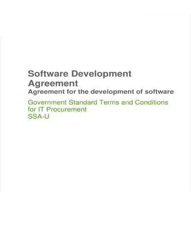 sample software development outsourcing agreement