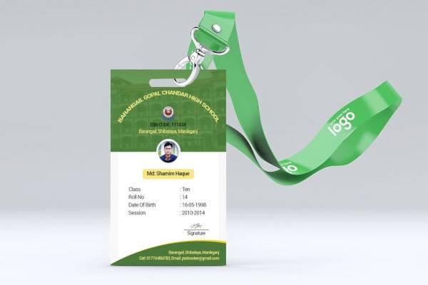 sample student id card