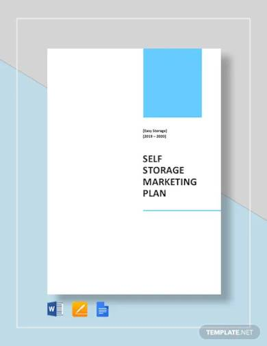 self storage marketing plan template