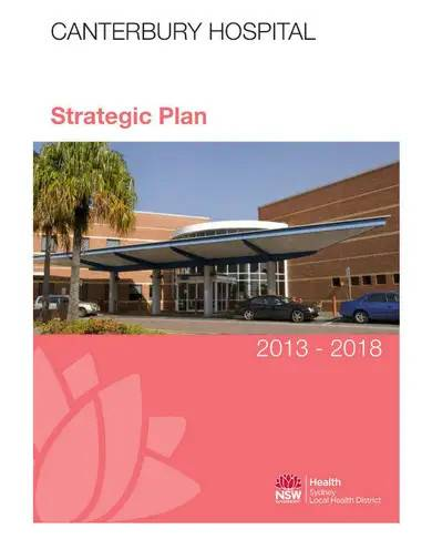 simple hospital strategic plan