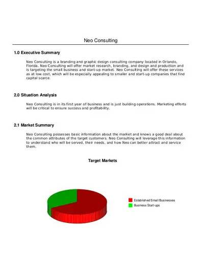 simple marketing consulting business plan