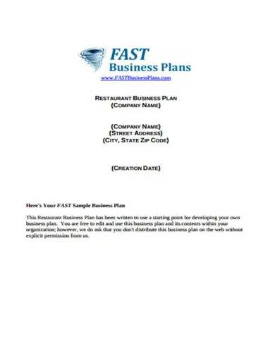 small catering business plan template