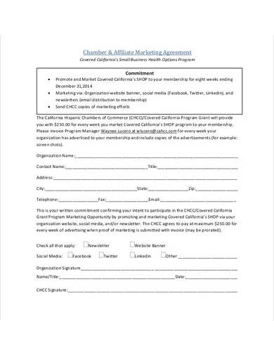 social media marketing agreement sample