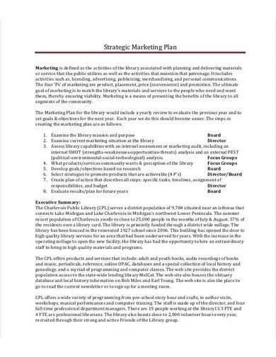 strategic book marketing plan