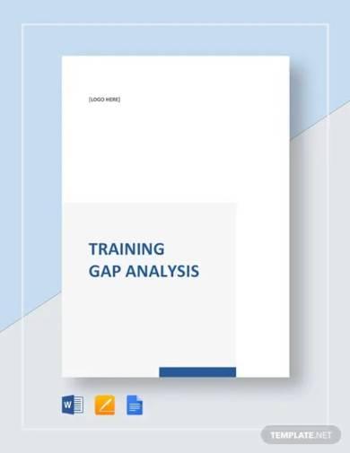 training gap analysis template