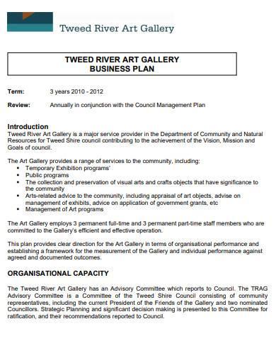 tweed river art gallery business plan