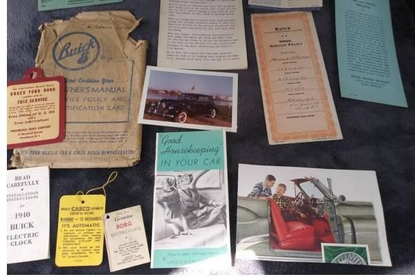 vintage car dealership brochure
