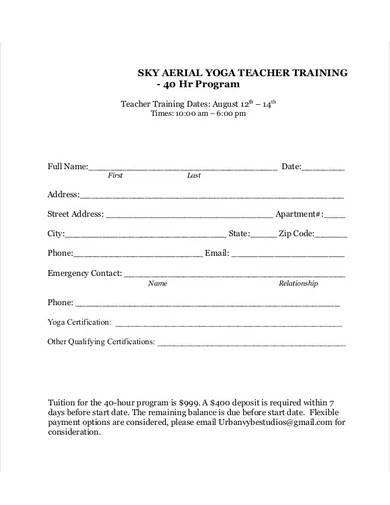 yoga teacher certificate template