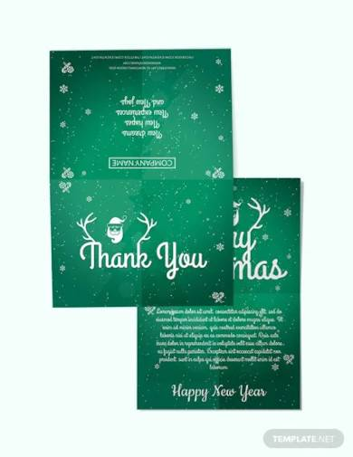 free business christmas thank you card template