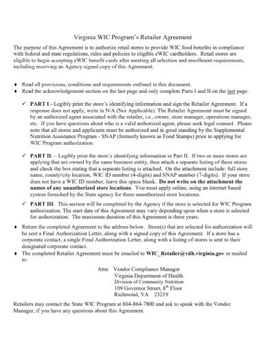 authorized program retailer agreement