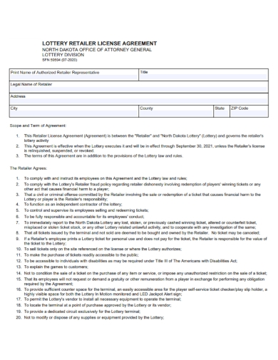 authorized retailer licensing agreement