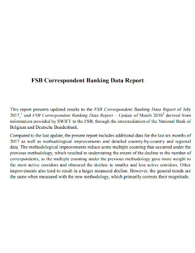 banking data report