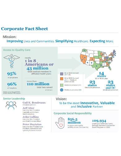 basic corporate fact sheet
