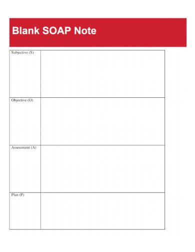 blank documentation soap note