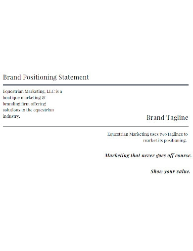brand positioning statement and tagline