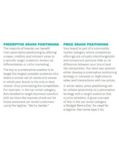 brand positioning statement worksheet
