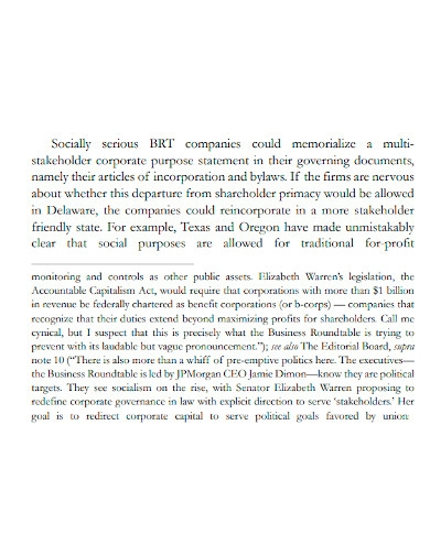 business company purpose statement