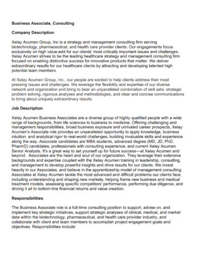 business consulting company description