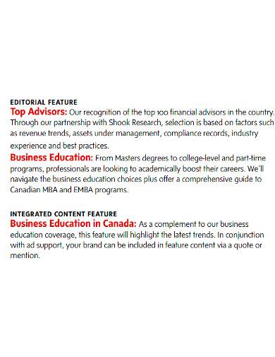 business magazine report