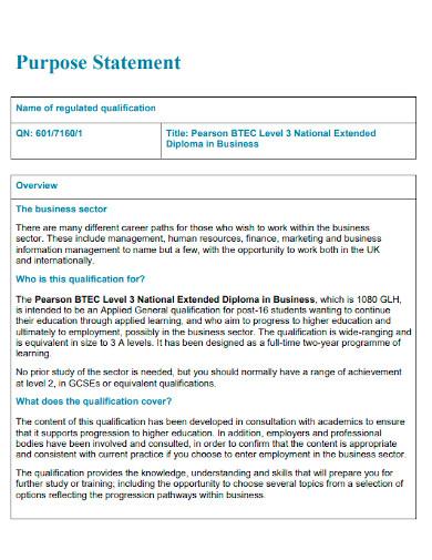 business purpose statement