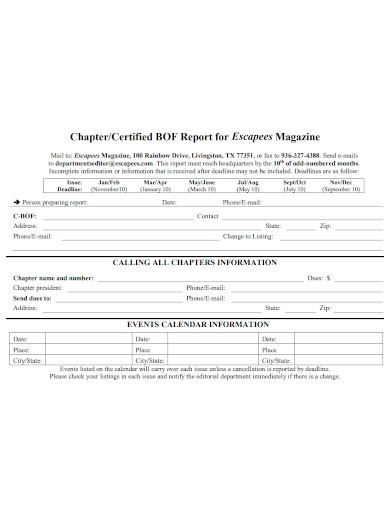 certified magazine report