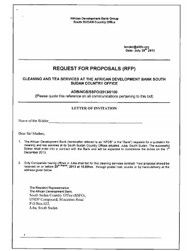 cleaning services proposal invitation letter