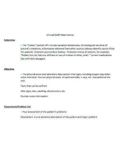 clinical soap note