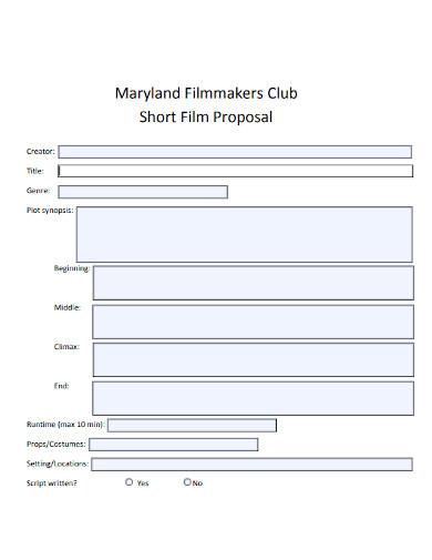 club short film proposal