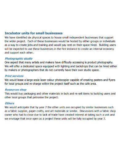 co operative arts business plan