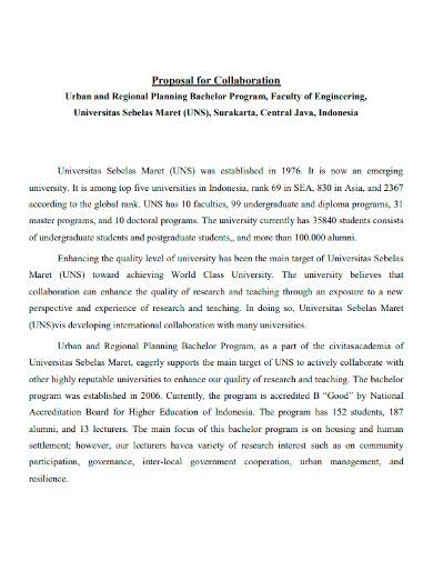 collaboration proposal sample