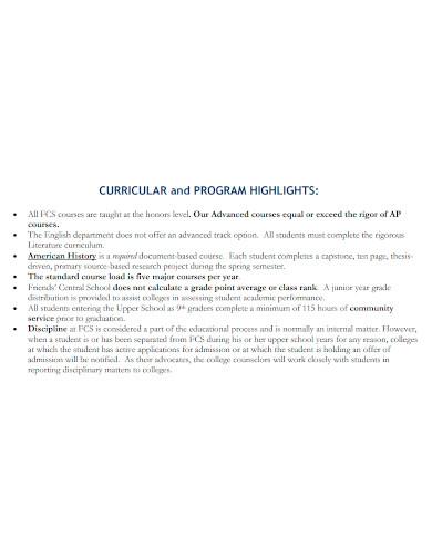 college and university profile