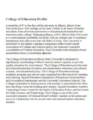 college of education profile