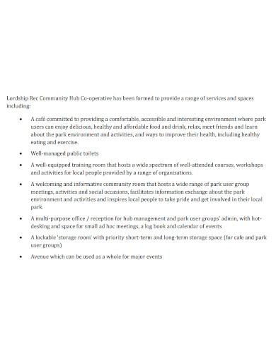 community co operative business plan