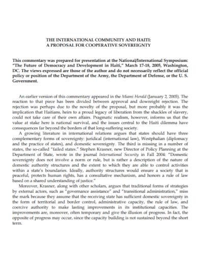 community cooperative proposal