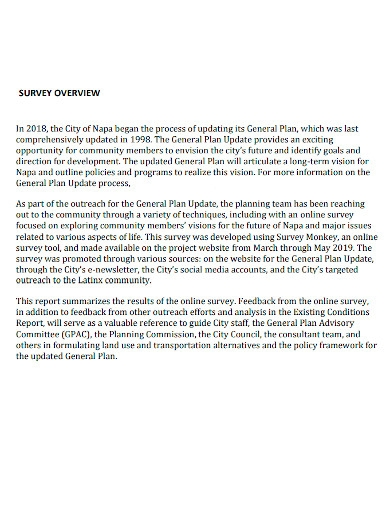community survey report sample