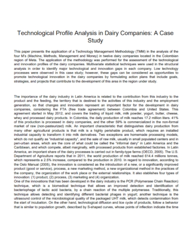 company technological profile analysis