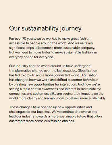 company sustainability performance report