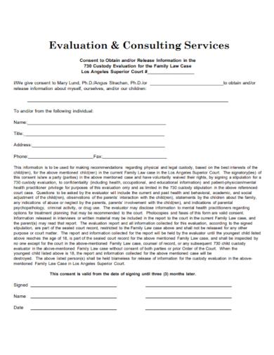 consulting custody evaluation case report