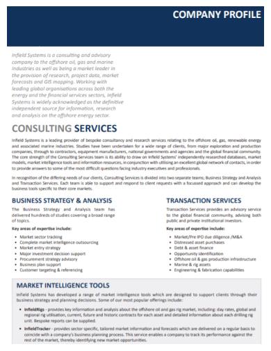 consulting services company profile