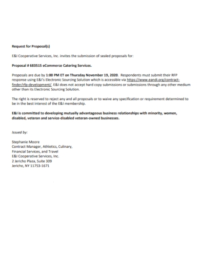 cooperative service request for proposal