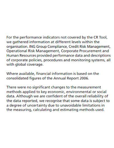 corporate company performance report