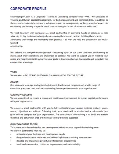 corporate consulting company profile