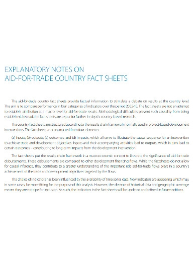 country fact sheet note
