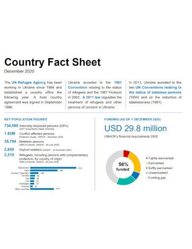 country fact sheet sample