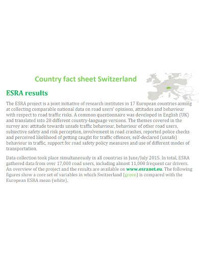 country survey fact sheet